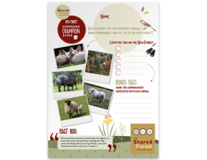 Activity Sheets 01 - Name 5 Commoners Animals
